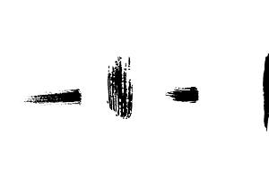 AI字体设计使用笔画素材